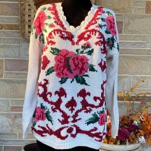 Vintage Kimberly Hope Floral Patterned Sweater